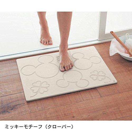 [ベルメゾン]ディズニー珪藻土バスマット日本製ミッキーモチーフ(クローバー)