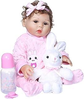 KLOP256 Reborn Baby Doll 18 pulgadas Full Body Simulación Vinilo Silicona Niña Realista Impermeable Encantador Con Ropa Ju...