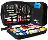 Vellostar Sewing KIT Premium Repair Set - Over 100 Supplies & 24-Color Threads, 30 Needles Set, Easy to USE Portable Mini Mending Button Travel Sew Kits, Sowing Stuff for Adults & Beginners, Giftable