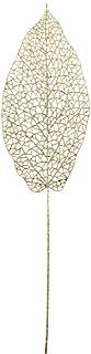 CRAFTY CAPERS Pioche florale pailletée en forme de feuille de Sanchezia Champagne 58 cm