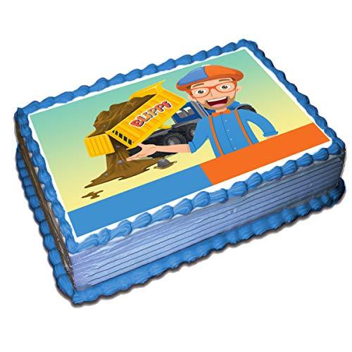 Blippi Cake Topper /4 8.5 x 11.5 Inches Birthday Cake Topper