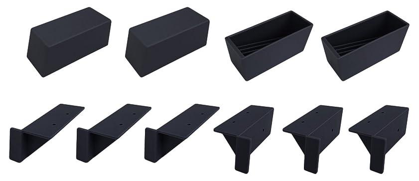 年金苦情文句瞬時にアイワ金属 2x4材で作れる立て掛けシェルフ 3段分パーツセット ブラック 1組入 AP-3007B