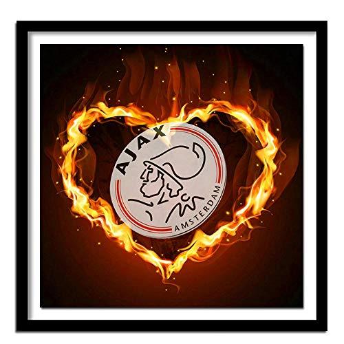 NCDFH 5D DIY diamant schilderij kruissteek diamant borduurwerk AJAX voetbal logo diamant muur schilderij 60x45cm