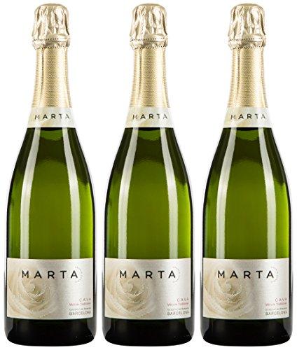 Marta Canals Semi Sec, spanischer Cava/Schaumwein, 3er Set (3 x 0.75 l)
