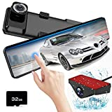 Mirror Dash Cam Front and Rear,AKEEYO Dash Camera for Cars with Sony Sensor 1080P 140° Wide Angle Dual Cam Parking Monitor with 12' IPS Screen Night Vision Reverse Image G-Sensor Loop Recording