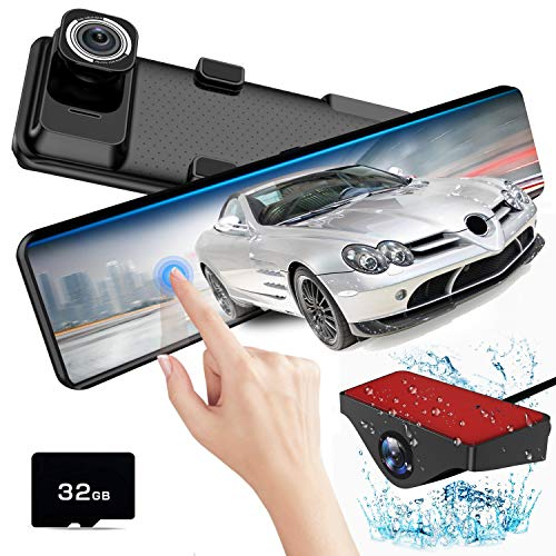 Mirror Dash Cam Front and Rear,AKEEYO Dash Camera for Cars with Sony Sensor 1080P 140° Wide Angle...
