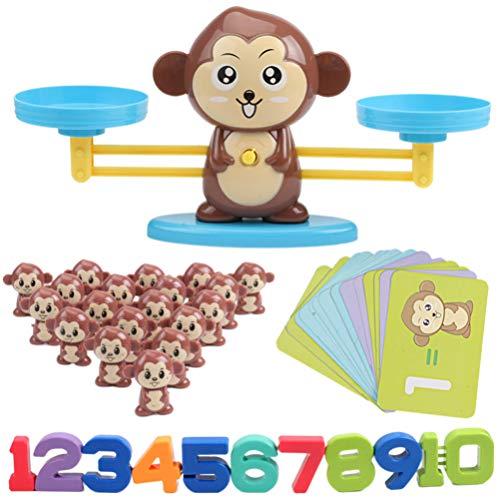 TOYANDONA 1 Juego de Juguetes Educativos Aritméticos para Niños Suma Resta Juguetes Matemáticos Equilibrio Mono Juego de Matemáticas Juguete Matemático para Niños Pequeños Niños Niños