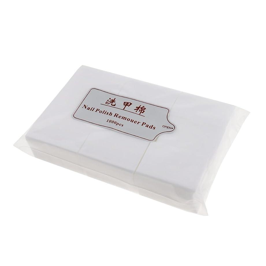 磁気尾ええKesoto 約1000個 ネイルコットンパッド ソフト ネイルアート チップ マニキュア ポリッシュリムーバー クリーンワイプ 綿 パッド紙