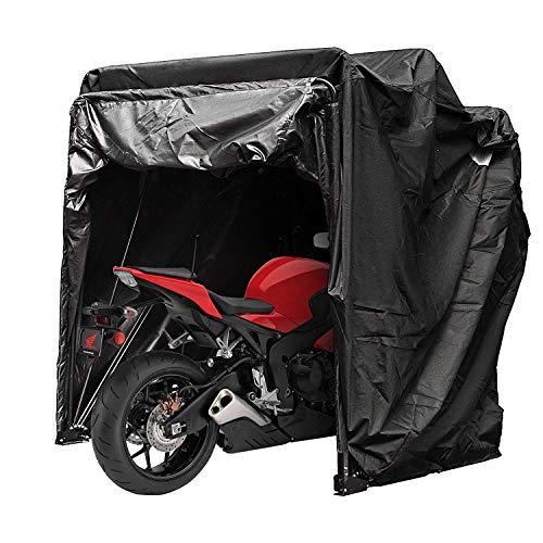 Cueffer Cubierta de Moto de Oxford 600D Funda Impermeable de Motocicleta y Bicicleta Toldo Sólido para Motocicleta Motorcycle Cover (con TSA Bloqueo de Contraseña)