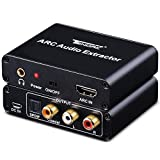 HDMI ARC Adapter, Tendak ARC Audio Extractor with Digital Optical TOSLINK SPDIF/Coaxial and Analog 3.5mm L/R Stereo Audio Converter for HDTV Soundbar Speaker Amplifier
