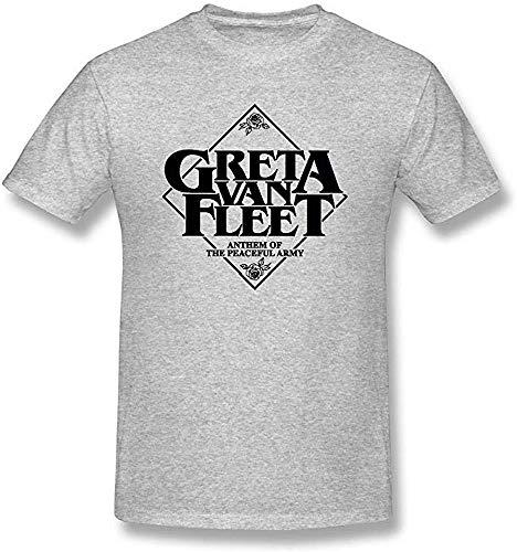 Greta Van Fleet Graues modisches Herren-T-Shirt Gr. XXL, grau