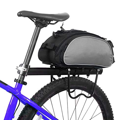 XYHLM 13L Bicycle Rear Rack Bag Multifunctional Bike Rack Seat Bag Bike Saddle Bag Outdoor Bicycle Pannier Trunk
