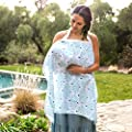 Bebe au Lait Premium Muslin Nursing Cover, Lightweight and Breathable, Open Neckline, One Size Fits All - Avila