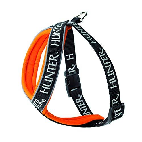 HUNTER Hundegeschirr Neopren Oakland, 100, reflektierend, schwarz/orange