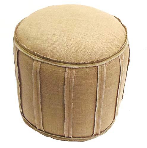 Cotton Craft - Rustic Jute Burlap Patch Pouf