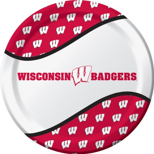 Wisconsin Badgers - Dinner Plates (8) Party Supplies