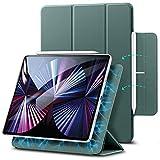ESR Magnetische Hülle kompatibel mit iPad Pro 11 2021 5G/2020, Auto Schlaf-/Weckfunktion, Trifold Standhülle kompatibel mit iPad Pro 11 Zoll (3. Generation), Waldgrün