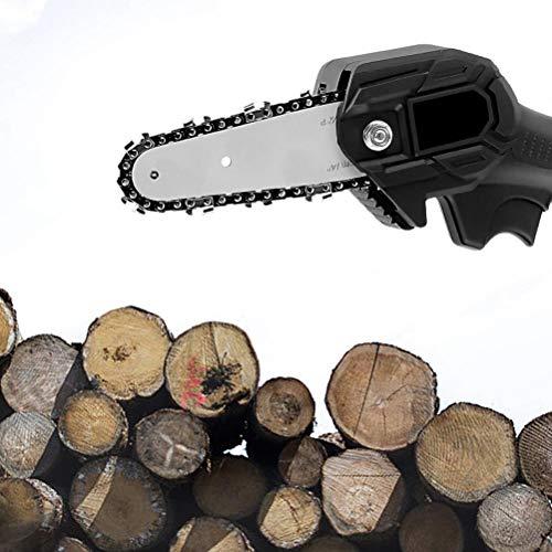 Gazaar Mini motosierra eléctrica,Sierra eléctrica recargable litio para cortar la madera,Sierra eléctrica,Lubricación automática cadena para corte madera rama de árbol y jardín,Tronco Mini Sierra