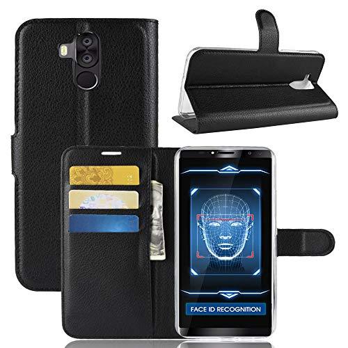SHIEID Hülle für Oukitel K6 Hülle Brieftasche Hülle Kunstleder Handyfall Geeignet für Oukitel K6(Schwarz)