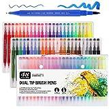 Pen48 colori a base d'acqua pennarello a doppia testa penna penna arte pennello acquerello doppia punta penne pennarelli permanenti