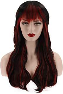 Hairpieces Hair Extension Fashion Black Red Wig Ladies Rose Net Chemical Fiber Long Curly Hair 60cm Hair Weave