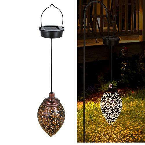 Queta Solarlaterne für außen, Dekorative Solarlampe Garten Laterne, IP65 Wasserdicht LED Solar Laterne Dekolampe für Draussen [Energieklasse A+]