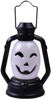 PGZLL Halloween décoration fête Accessoires Portable Lanterne veilleuse crâne sorcière fantôme Horrible Suspension LED Lam...