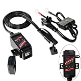 MOTOPOWER MP0608-UK 3.1Amp Motorcycle Dual USB Charger and Battery Monitor with Switch Control