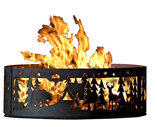 P&D Metal Works Campfire Fire Ring - Northwoods Campground (48 in. Dia. x 12 in. H)