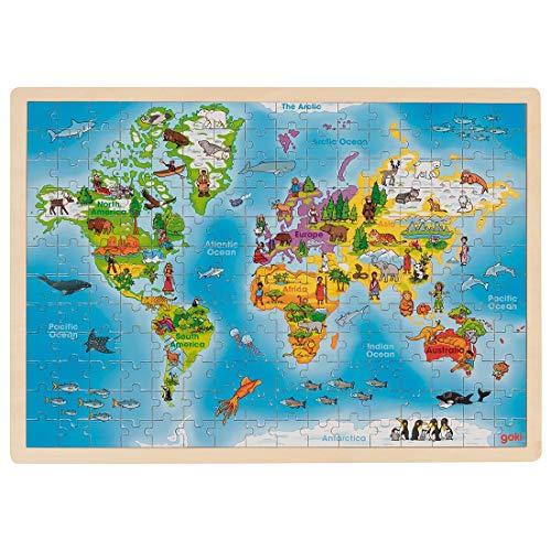 Goki Einlegepuzzle Weltkarte aus Holz