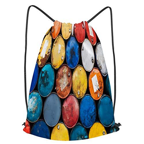YMWEI Impermeable Bolsa de Cuerdas Saco de Gimnasio Animales de dibujos animados en la selva. Deporte Mochila para Playa Viaje Natación
