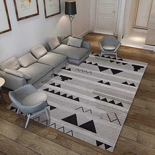 KaminHome - Alfombra Rectangular Joe Dibujo triángulos Abstracto Pelo Corto moqueta Suelo casa hogar salón habitación diseño Estilo Moderno nórdico Minimalista (Triángulo invertido, 120 cm x 160 cm)