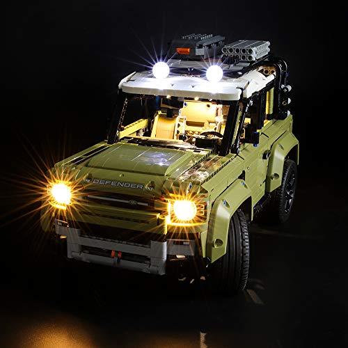BRIKSMAX Kit di Illuminazione a LED per Lego Technic Land Rover Defender,Compatibile con Il Modello Lego 42110 Mattoncini da Costruzioni - Non Include Il Set Lego.