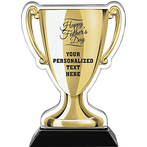 """Crown Awards 7"""" Happy Fathers Day Gold Cup Trophies, Custom Fathers Day Acrylic Cup Trophy Prime"""