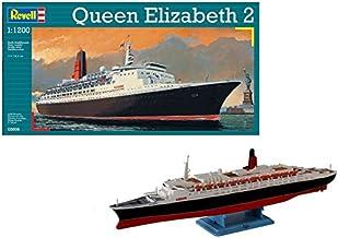 Revell Barco Queen Elizabeth 2 en Escala 1/1200-Revell RE05806, Multicolor, 24,4 cm de Largo (05806)
