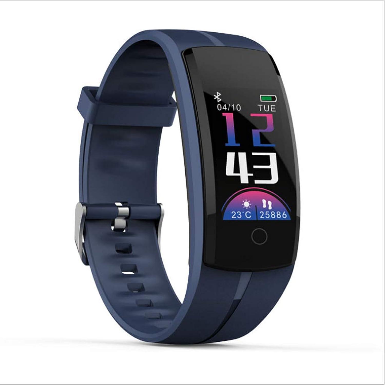 Smart Bracelet, Continuous Heart Rate Monitoring Depth Waterproof GPS Track Sports Bracelet (color   blueee)