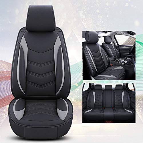 XHJZ-W Four Season Sitzbezug Wear-Resistant PU-Leder-Auto-Sitzkissenbezug 5 Sitzplätze Full Set von Universal-Fit,D
