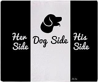 CafePress - Dog Side Vs His/Her Side Bedspread - Soft Fleece Throw Blanket, 50