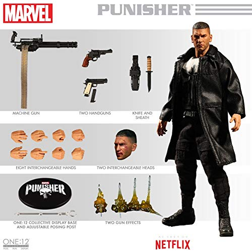 Mezco Toys One:12 Collective Netflix Marvel Punsiher 1/12 Scale Action Figure