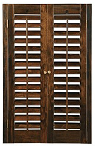 "BassWood DIY Plantation 2 1/4"" Interior Shutter Kits (Walnut, 39-41"" W x 36"" H)"