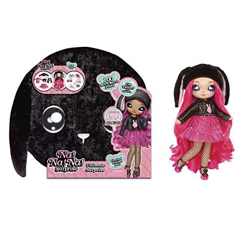 Na!Na!Na! Surprise! 571827E7C Ultimate Surprise - Neu Beinhaltet Modepuppe mit bürstbaren Haaren, Designer-Kleidung und Accessoires - Black Bunny