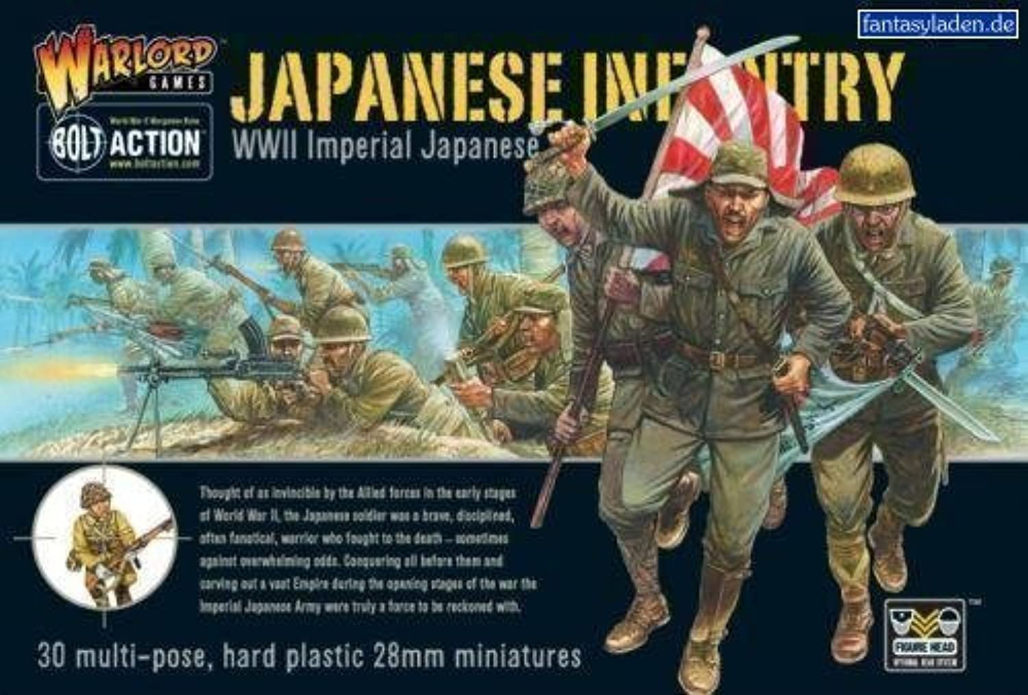 WWII Imperial Japanese Infantry  28mm Hard Plastic Figures