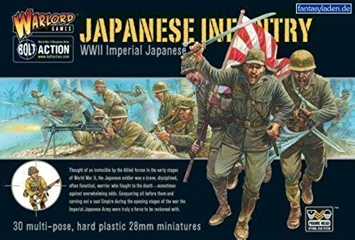 WWII Imperial Japanese Infantry - 28mm Hard Plastic Figures by Warlord Games by Bolt Action
