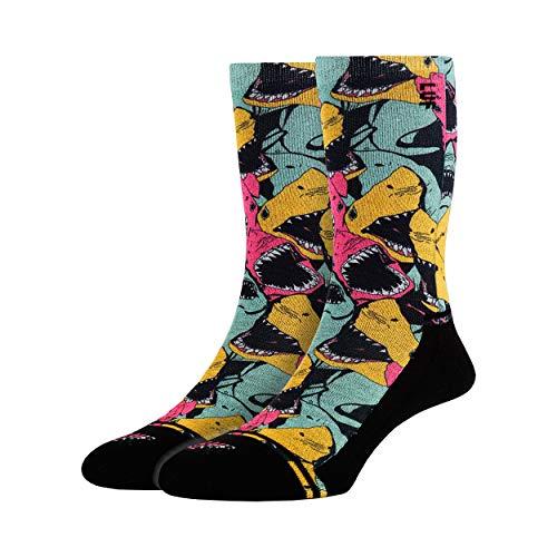 LUF SOX Lifestyle Power - Socken für Damen und Herren, Unisex-Größe 35-39, 40-43 und 44-48, viele colle Designs, Fußsohle gut gepolstert