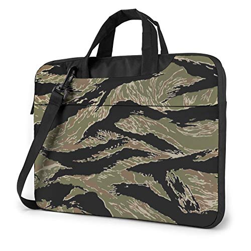Laptop Case, Tiger Stripe Camo Print Laptop Shoulder Bags Multi-Functional Notebook Sleeve,13-14-15.6 Inch