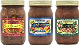 All-Natural Gourmet Salsa Variety Pack | Low Sugar, Low Cal, Low Carb, Low Sodium, & Gluten Free! Includes (1) Each of Black Bean & Corn, Mango, & Pineapple Salsas.