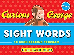 curious george sight words - 10 book reading program