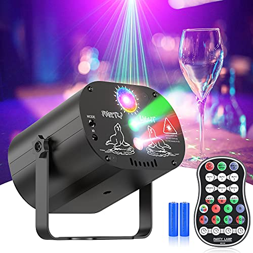 Joguly Laser Lights,Stage Lights,Party Lights DJ Disco Sound Activated RGB Led Projector with Remote Control for Christmas Halloween Decorations Gift Birthday Wedding Karaoke KTV Bar