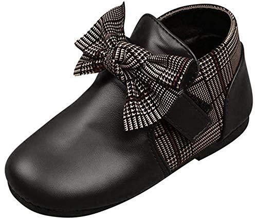 Chaussures BéBé, Manadlian Baskets Bébé Garçon Filles Chaud Chaussures Décontractées Shose Étudiant Hiver Baskets Chaussures Bowknot en Cuir Bébé