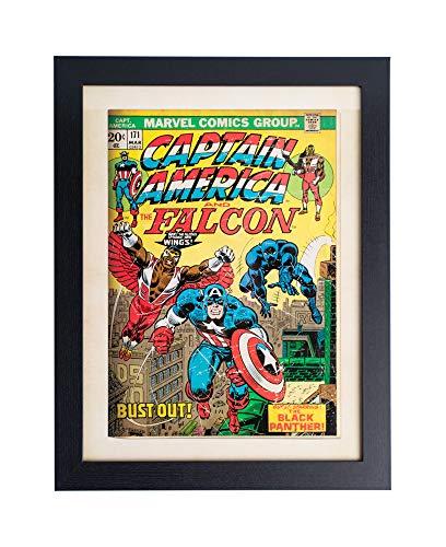 Grupo Erik Cuadro Decorativo Marvel Comics Captain América, Multicolor, 30 X 40 Cm